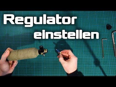 Paintball Regulator einstellen - Guerrilla Air / First Strike / Myth G3 und P3 - Low Pressure Kit