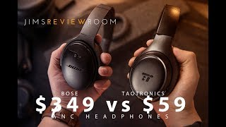 Taotronics ANC BUDGET Headphones - REVIEW ( Compared to Bose and Sony $350 ANC headphones! )