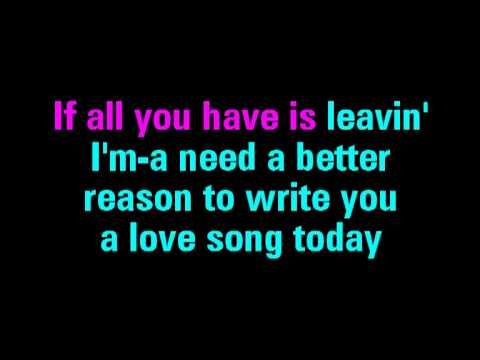 Love Song Sara Bareilles Karaoke - You Sing The Hits
