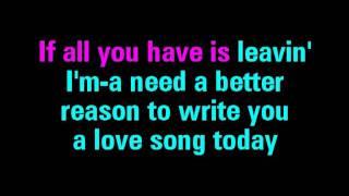 Love Song Sara Bareilles Karaoke - You Sing The Hits