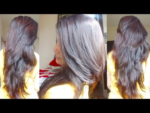 Easy Saloon Style Own Step/Layer Cut|Cut Own Hair with steps n Layers| Alwaysprettyuseful by PC