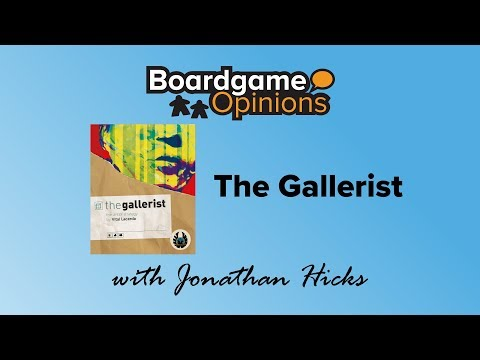 Boardgame Opinions: The Gallerist