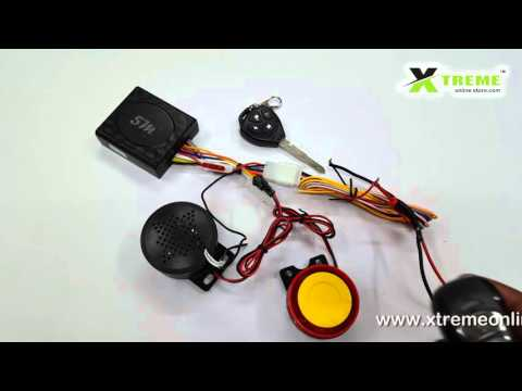 Talking Anti Theft Security Alarm System With Double Remote For Motor Bikes