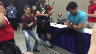 Jack & Mark's Sick Bagpipe Moves [Indy Pop Con 2015]