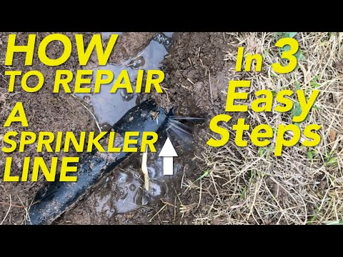 How to repair a broken/ punctured Sprinkler Line in 3 Easy Steps