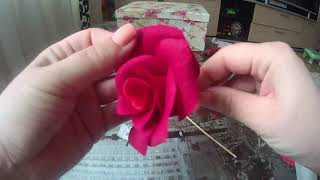 AMAZING DOUBLETTE CREPE PAPER ROSE