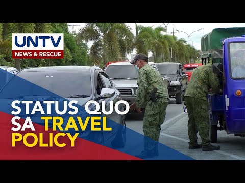 [UNTV]  Checkpoint at travel pass sa areas with travel restriction, tuloy pa rin – PNP