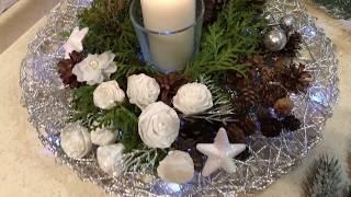 Новогодние украшения + цветы из Fix price!