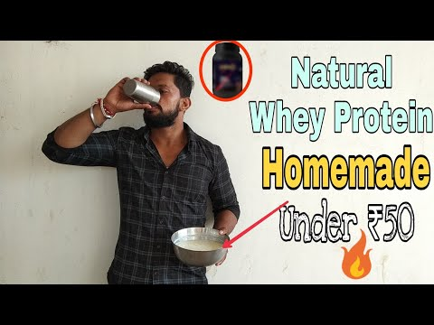 Easy Homemade Natural Whey Protein Under ₹50!