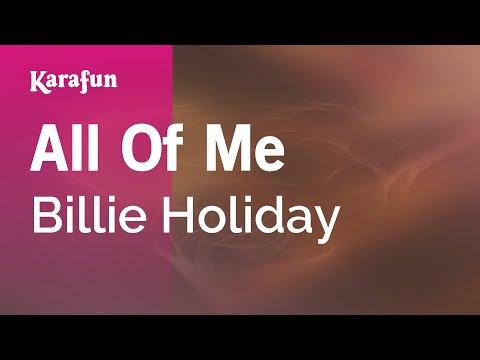 Karaoke All Of Me - Billie Holiday *