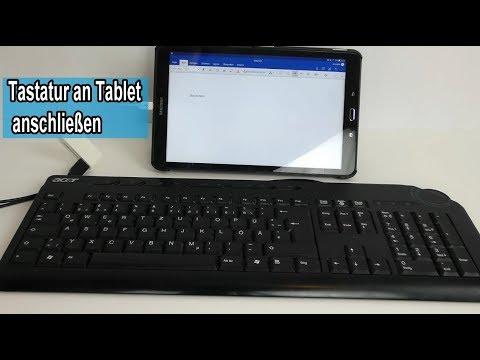 Externe Tastatur an Tablet anschließen / USB Tastatur installieren & mit Adapter verbinden Anleitung