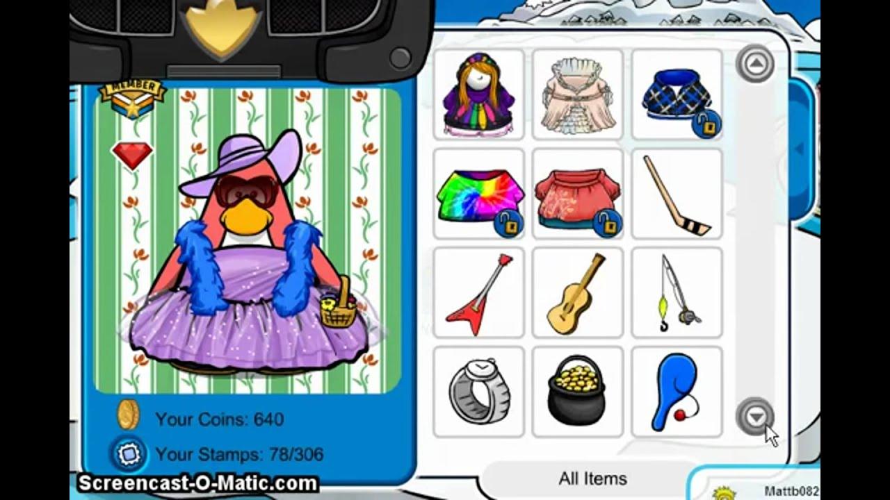 rare club penguin items