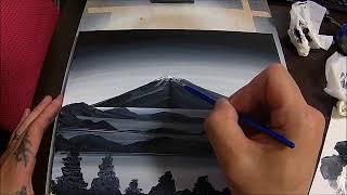 アクリルアート富士山