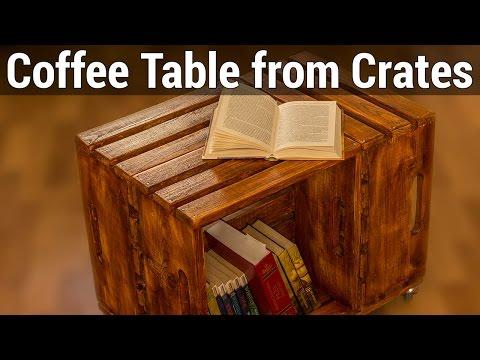Coffee Table from Crates | Журнальный столик из ящиков
