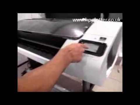 hp designjet t1300 carga de papel