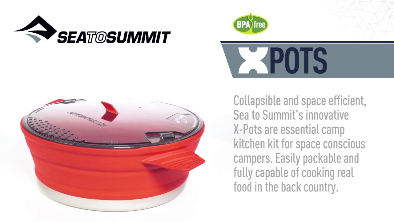 Sea To Summit X-Pot Collapsible Compact Camping Hiking Cooking Pan 2.8 Litres