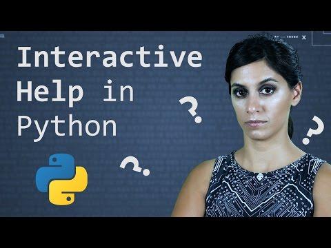 Interactive Help      Python Tutorial      Learn Python Programming