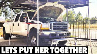 2001 F350 7.3 Powerstroke - TIME TO PUT HER ALL TOGETHER - Warning !! - This vid is long GET LUNCH