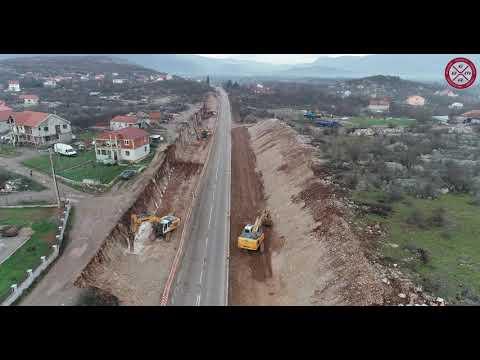 Radovi na bulevaru Podgorica - Danilovgrad