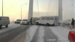Авария в Семее на мосту