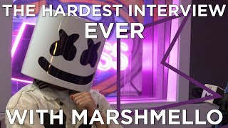 The HARDEST interview EVER with Marshmello