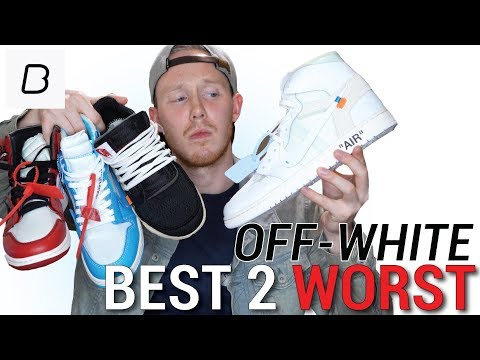 ENTIRE OFF WHITE X NIKE COLLECTION RANKED WORST TO BEST & THEIR RESALE VALUES
