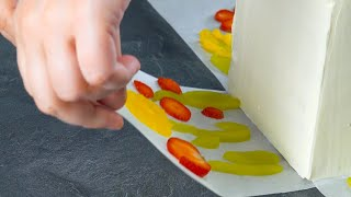 Lay Fruit Flowers On The Paper & Press Them Into The Sides | Fruity & Floral!