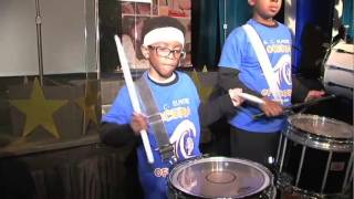 Elmore Elementary School Drum Line perform at HISD State of Schools