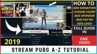how to stream pubg mobile using obs tencent gaming buddy obs
