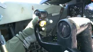 Б 52 полет - Кабина пилотов.