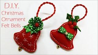 D.I.Y. Chrismas Ornament - Felt Bells | MyInDulzens