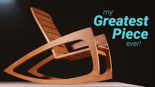 How to Build a Modern Rocking Chair - Woodworking