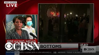 "Atlanta Mayor Keisha Lance Bottoms tells protesters: ""Go home"""