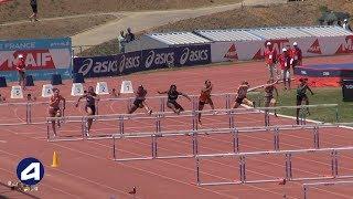 Angers 2019 : Finale 100 m haies Cadettes (Léa Vendome en 13''31)