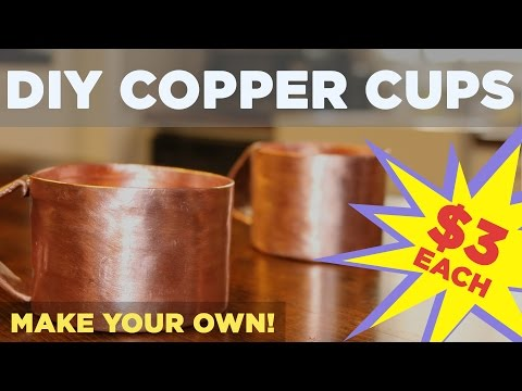 "Video DIY Copper Mug for Moscow Mule | Made from 3/4"" Pipe!"