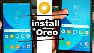 Oreo 8-1 black theme any samsung device j7 j5 j6 j2 j2 pro all