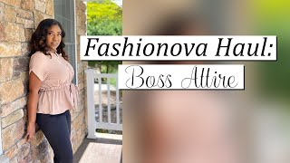 FASHION NOVA HAUL: BUSINESS CHIC EDITION