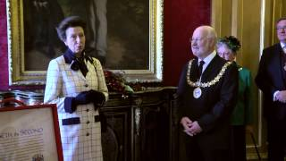 preview picture of video 'HRH Princess Anne visits Chelmsford'