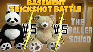 BASEMENT TRICKSHOT BATTLE!! || Puppetaria Sports