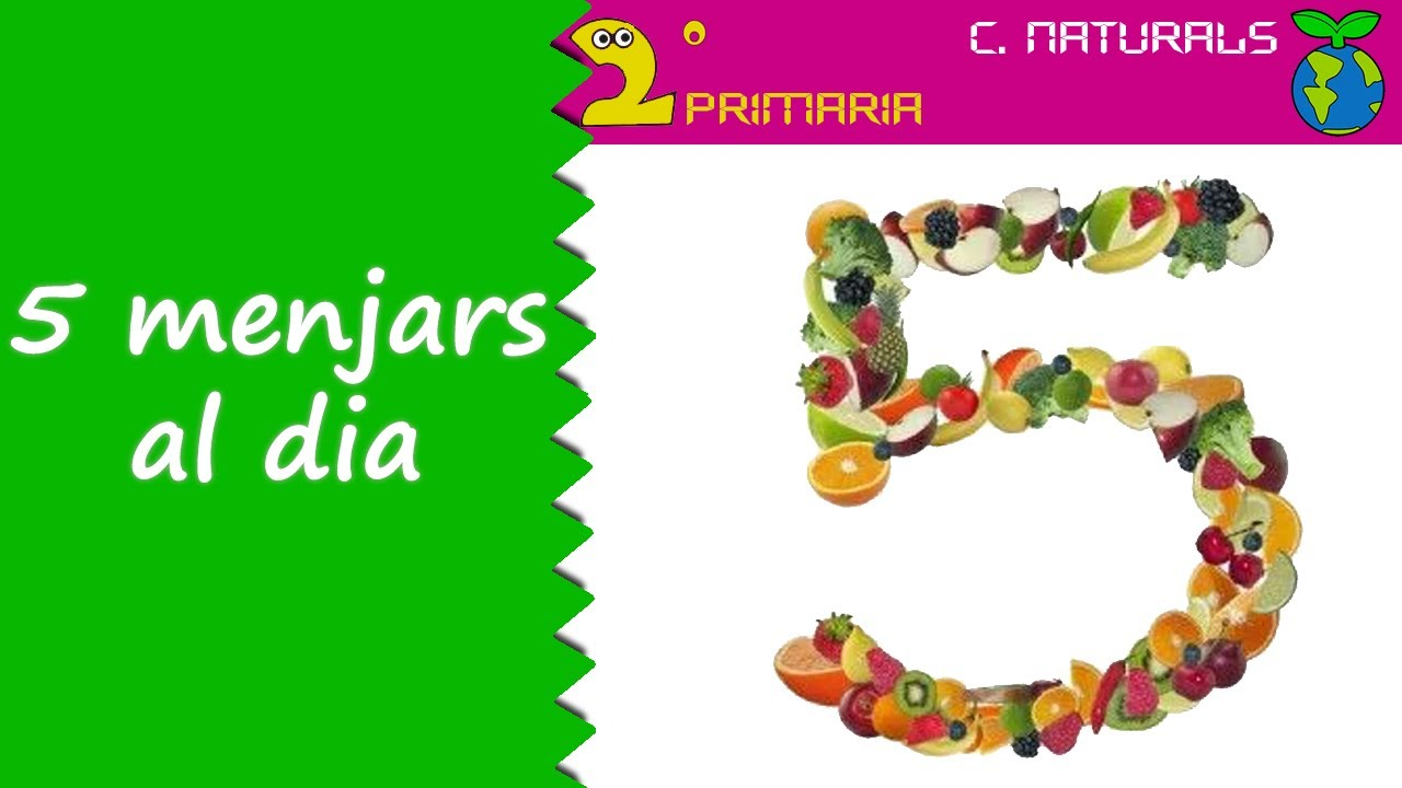 Ciències de la Naturalesa. 2n Primària. Tema 3. 5 menjars al dia