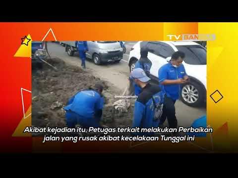 Truk Tabrak Tiang Penunjuk Arah di Jakarta Pusat