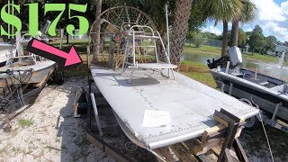 I Purchased A Cheap Airboat For $175 At Auction