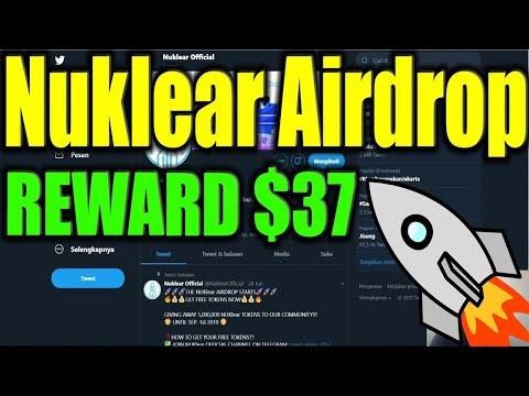 Ganhe U$37 Dólares no Airdrop Deflacionário Nuklear.  Acaba Amanha Corre !!!