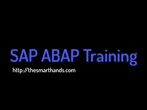 SAP ABAP Training - Introduction to ERP and SAP (Video 1) | SAP ...
