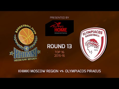 Highlights: Top 16, Round 13, Khimki Moscow Region 98-66 Olympiacos Piraeus