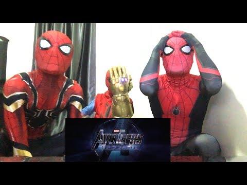 Marvel Studios' AVENGERS: ENDGAME - Official TRAILER REACTION!!! By MCU Spiderman Bros (видео)
