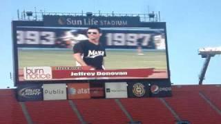 Jeffrey Donovan joue au baseball - Sun Life Stadium - Miami, Floride - 19.06.2010