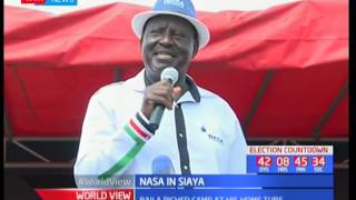 Raila Odinga narrates the illegal steps taken by Jubilee in road constructions today