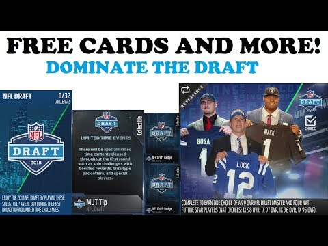 HOW TO ATTACK THE NFL DRAFT PROMO IN MUT 18