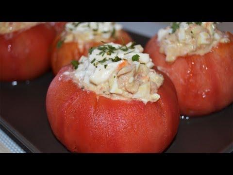 Tomates Rellenos de Atún y Huevo | Recetas frías
